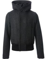 Giorgio Armani Wool Hooded Jacket - Lyst