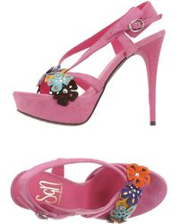 Sgn Giancarlo Paoli Pink Sandals - Lyst