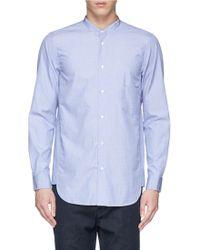 Covert 'Coreana' Mandarin Collar Cotton Poplin Shirt blue - Lyst