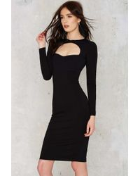 Nasty Gal | Knot Messing Around Bodycon Dress | Lyst