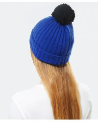 Helene Berman Pom Pom Beanie Hat - Lyst