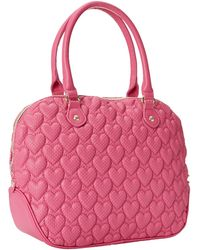 Betsey Johnson Always Be Mine Dome Satchel pink - Lyst