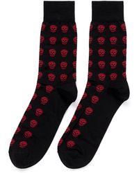 Alexander McQueen Allover Short Skull Socks - Lyst