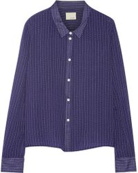 Band Of Outsiders Printed Cotton Shirt - Lyst