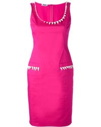 Moschino Cheap & Chic Tooth Trim Fitted Dress - Lyst