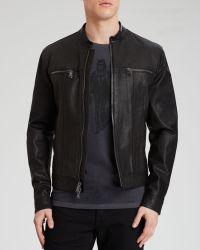John Varvatos Usa Leather Zip Jacket - Lyst