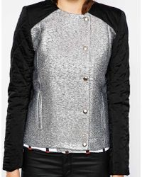 American Retro - Magdalena Metallic Jacket With Contrast Sleeves - Lyst