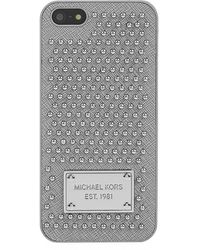 MICHAEL Michael Kors Studded Leather Iphone 5 Cover - Lyst