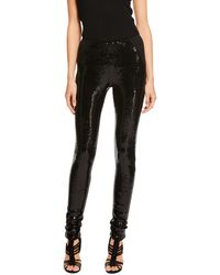 Donna Karan New York Pull On Pant with Structured Jersey Back - Lyst