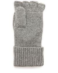 Rag & Bone Keighley Fingerless Gloves - Black gray - Lyst