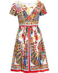 Dolce & Gabbana Printed Cotton Sun Dress - Lyst