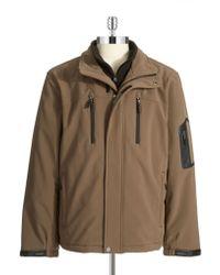 Calvin Klein Fleece Lined Pant Coat brown - Lyst