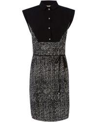 Oasis Mono Print Tshirt Dress - Lyst
