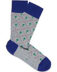 Smythson Gray Palm Tree Socks