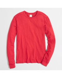 J.Crew Factory Textured Long-sleeve Tee - Lyst