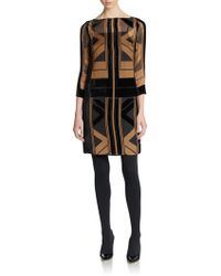 Catherine Malandrino Art Deco-inspired Print Dress - Lyst