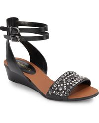 Enzo Angiolini Zaila Ankle-Strap Wedge Sandals - Lyst