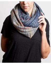 Bungalow 20 | Navy Plaid Infinity Scarf | Lyst