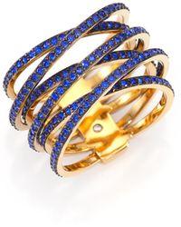 Michael Kors | Parisian Jewels Pavé Crisscross Ring | Lyst
