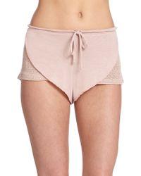 Eberjey Rosette Shorts - Lyst