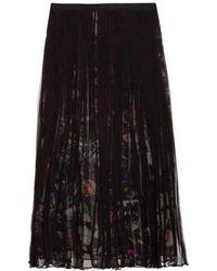 McQ by Alexander McQueen Layered Festival Floral-Print Chiffon Skirt - Lyst