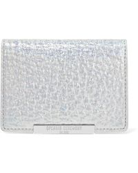 Opening Ceremony - End Chip Metallic Leather Cardholder - Lyst