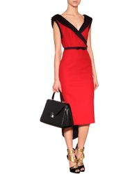 L'Wren Scott Two-tone Dress - Lyst