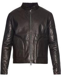 Baja East - Terry Leather and Fleece Reversible Jacket - Lyst