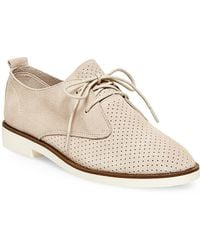 Steve Madden - Tripit Perforated Suede & Nubuck Leather Oxfords - Lyst