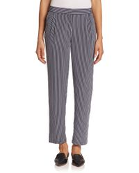 Equipment Soren Striped Silk Pants blue - Lyst