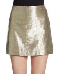 Alice + Olivia Mayra Metallic Mini Skirt - Lyst