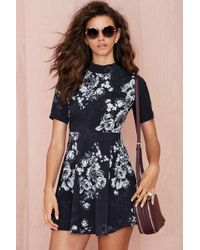 Nasty Gal Oh My Love Midnight Floral Skater Dress - Lyst