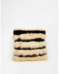 Asos Faux Fur Cuddle Clutch Bag - Lyst