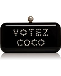 """Madison Avenue Couture - Runway Edition Chanel """"Votez Coco"""" Evening In The Street Clutch - Lyst"""