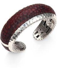 John Hardy Palu Sterling Silver Rosewood Cuff Bracelet - Lyst
