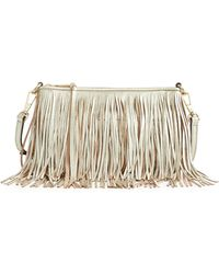 Rebecca Minkoff Finn Leather Fringe Crossbody Bag - Lyst