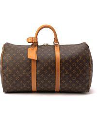 Louis Vuitton Monogram Keepall 50 Travel Bag - Lyst