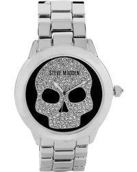 Steve Madden | Women'S Silver-Tone Bracelet 40Mm Smw00021-01 | Lyst