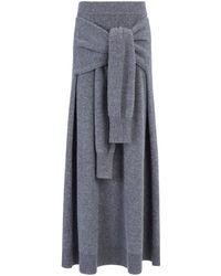 Joseph | Soft Wool Knot Skirt | Lyst