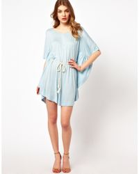 Dress Gallery - Scoop Back Jersey Dress with Batwing - Lyst