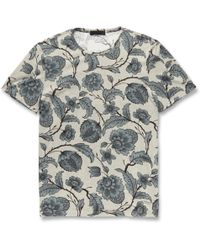 Burberry Prorsum Printed Fine Cottonjersey Tshirt - Lyst