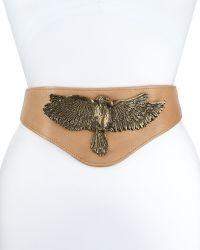 Haute Hippie - Buckle Bunny Leather Eagle Belt - Lyst