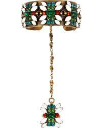 Dannijo Vanessa Oxidized Goldtone Swarovski Crystal Finger Bracelet - Lyst