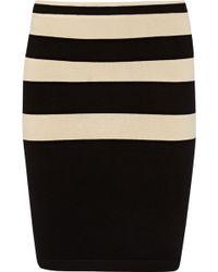 T By Alexander Wang Striped Jersey Pencil Skirt - Lyst