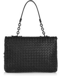 Bottega Veneta Olimpia Intrecciato Leather Shoulder Bag - Lyst
