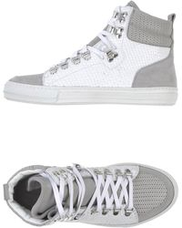 Diesel Black Gold White High-tops  Trainers - Lyst