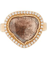 Brooke Gregson - Rose Gold And White Diamond Ring - Lyst