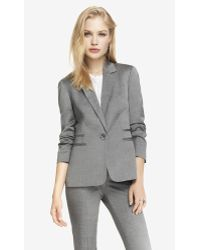 Express 24 Inch Wool Blend Notch Collar Jacket - Lyst