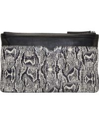 McQ by Alexander McQueen Orange And Green Snakeskin Clutch - Lyst