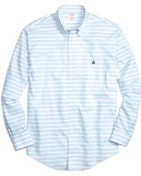 Brooks Brothers Non-iron Regular Fit Horizontal Stripe Sport Shirt - Lyst